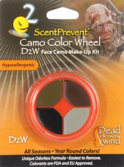 Dead Down Wind 4 Color Camo Face Paint Wheel
