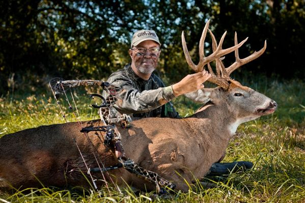 grant woods with whitetail buck