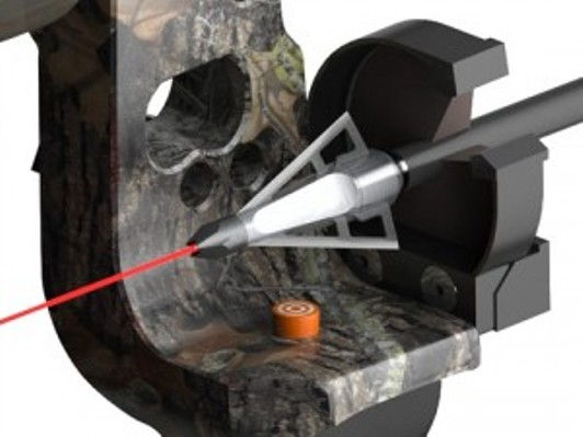 spot on broadhead shooting laser beam