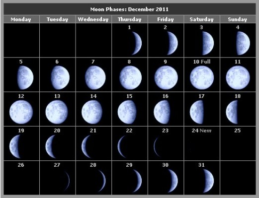 Lunar Phase Hunting Table.